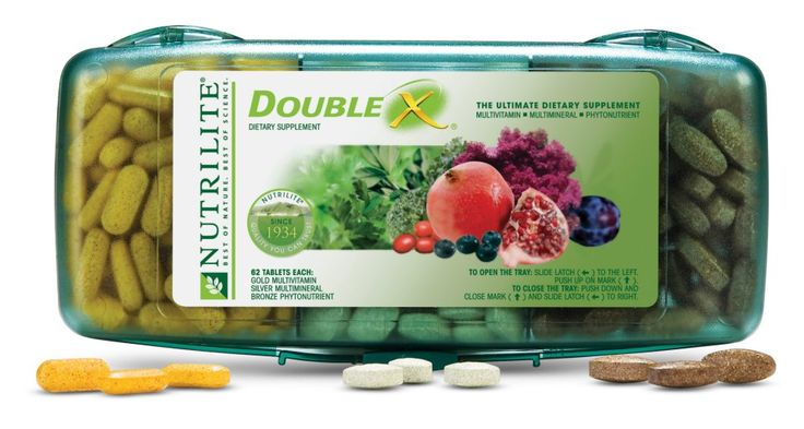 Double X is our top-selling vitamin, is NSF Certified for Sport, and is recognized for being Halal/Kosher. Double X helps fill your nutritional gaps with 10 essential vitamins, 12 essential minerals, and 20 top-quality, natural plant concentrates, grown and harvested on our own certified organic farms. No artificial colors or preservatives. www.amway.com/thomashaynes