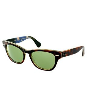Ray Ban Small Frame Glasses : Ray-Ban Havana Laramie Small Frame Sunglasses