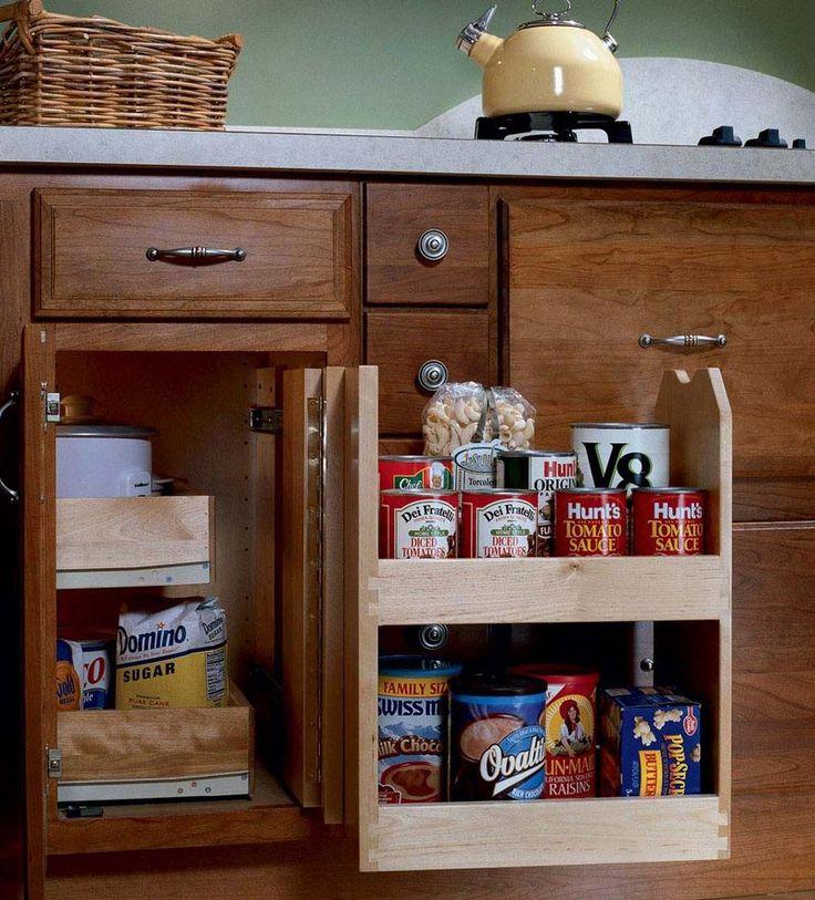 Blind Cabinet Storage Kitchen Pinterest