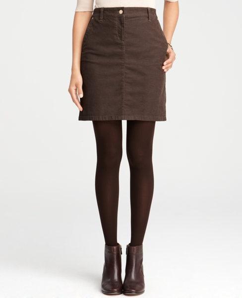 Brown Corduroy Skirt 66