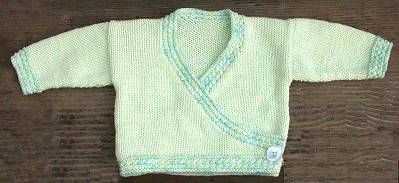 Bunny Hop Side Wrap Kimono for Baby - free knitting pattern for baby