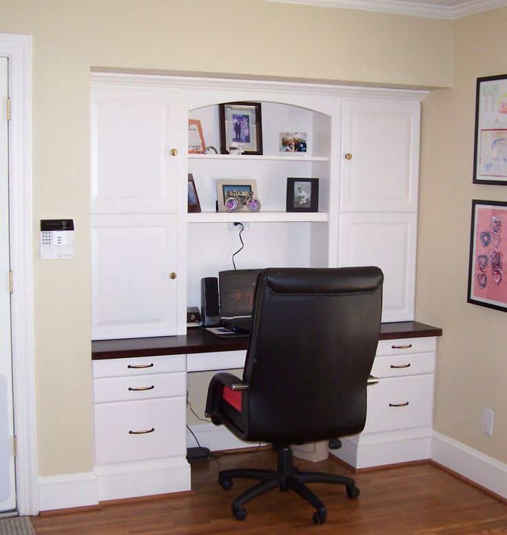 -in desk--get all the organizational space without having to build