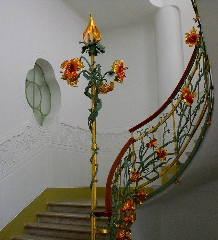 jugendstil treppenhaus von barsanyi art noveau things. Black Bedroom Furniture Sets. Home Design Ideas
