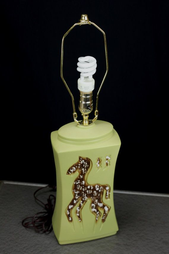 Vintage giraffe nursery : Giraffe nursery table lamp
