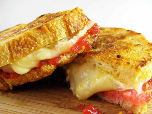 Brie cranberry grilled cheese - Another great use of my panini maker