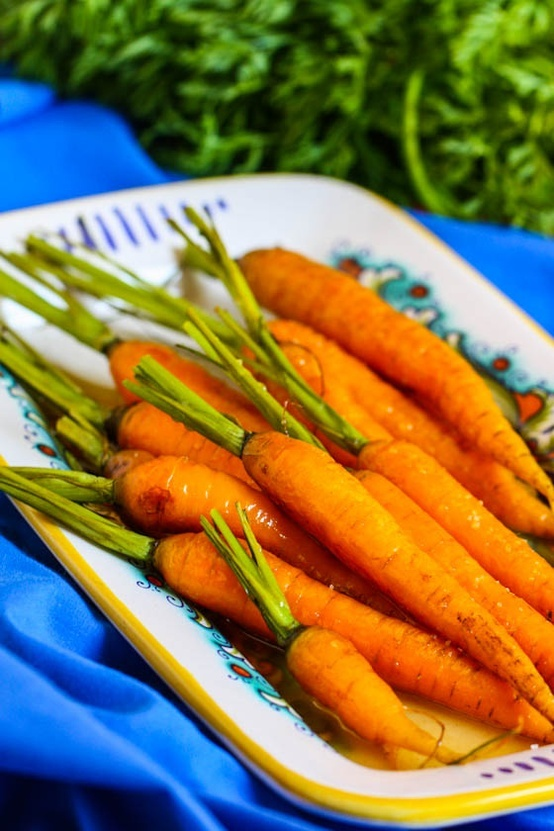 roasted carrots with honey ginger glaze | Food ~ Drink | Pinterest
