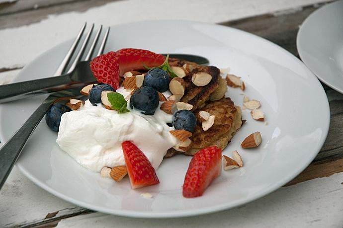 bananpandekager - Healthy low carb morning pancakes