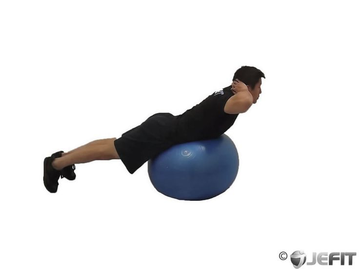 Back Extension on Stability Ball | Fitness - Upper Body | Pinterest