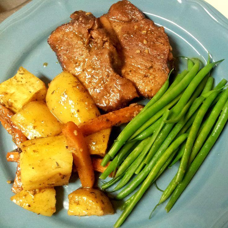 Slow Roasted Orange Pork Roast with Root Vegetables