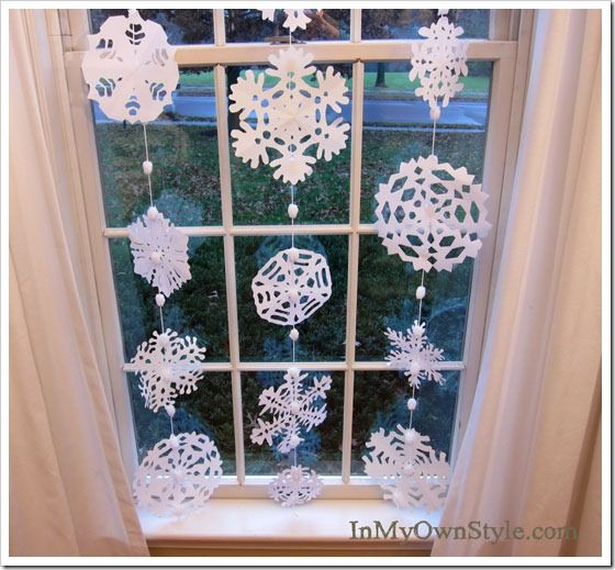 Snowflake curtains