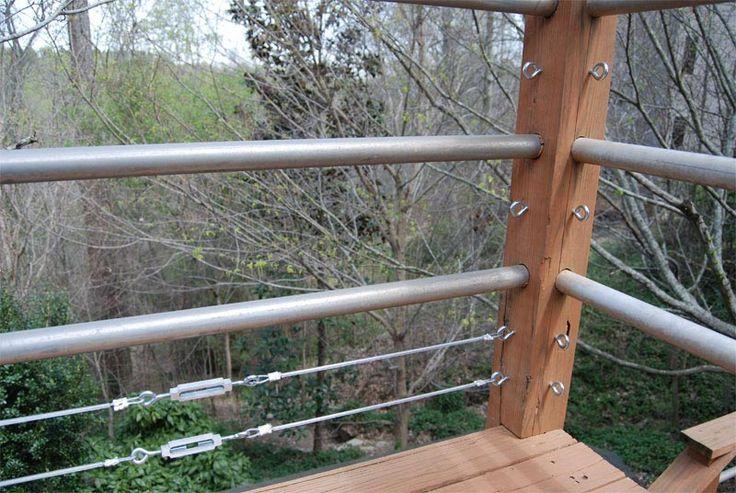 Best Diy Tension Cable Railing 3 Outdoor Dreams Pinterest 400 x 300