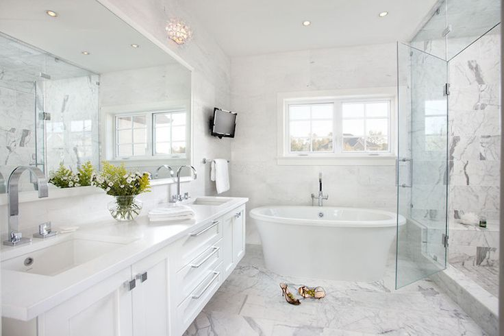 White And Grey Bathroom Pinterest
