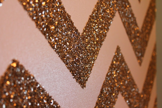 DIY Glitter Chevron Canvas!!