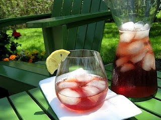 Pomegranate-Honey Cooler | food and drink | Pinterest