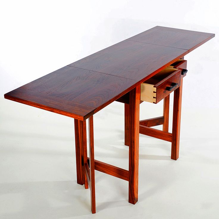 Solid walnut gate leg table hand rubbed oil and wax finish for Table 52 petroleum