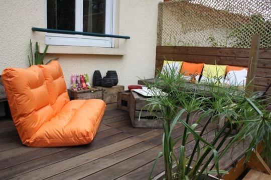 terrasse en bois  Palettes  Pinterest