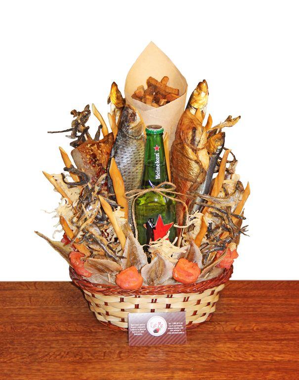 Подарок букет из пива и рыбы 849