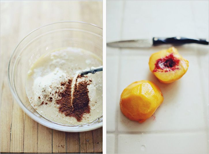 Peach Creme with Gingersnap Crust | Things I shouldn't eat | Pinterest