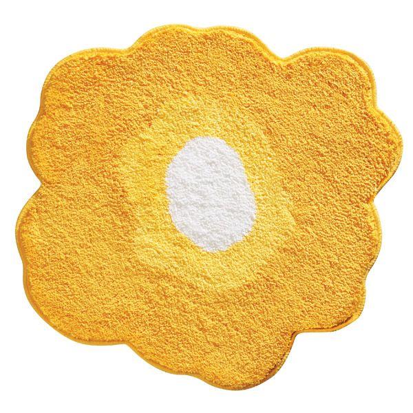 Flower Bath Rugs - Yellow Poppy Bath Rug by Interdesign