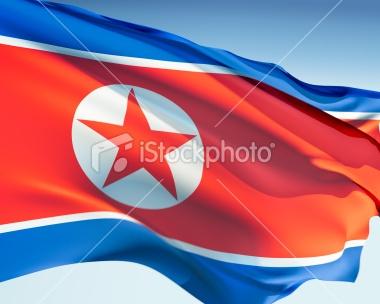korea north flag