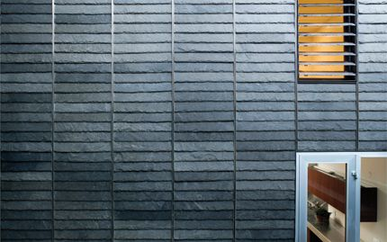 Slate shingle cladding