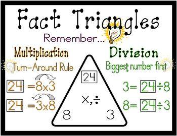 Fact Triangles | School | Pinterest
