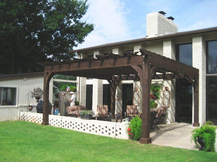 Brown patio pergola yard ideas pinterest