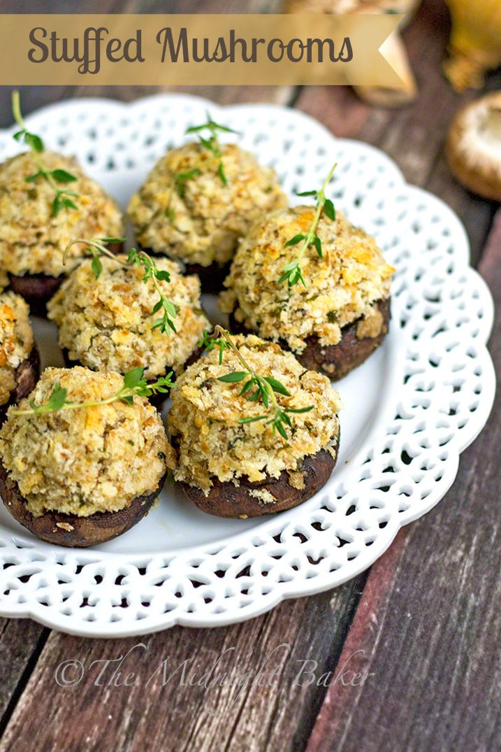 Classic Stuffed Mushrooms | bakeatmidnite.com | #mushrooms #sidedishes ...