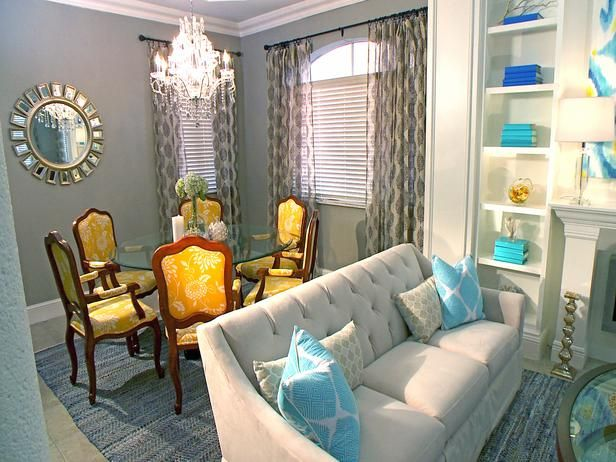 Dining room with block chandeliers for David bromstad living room designs