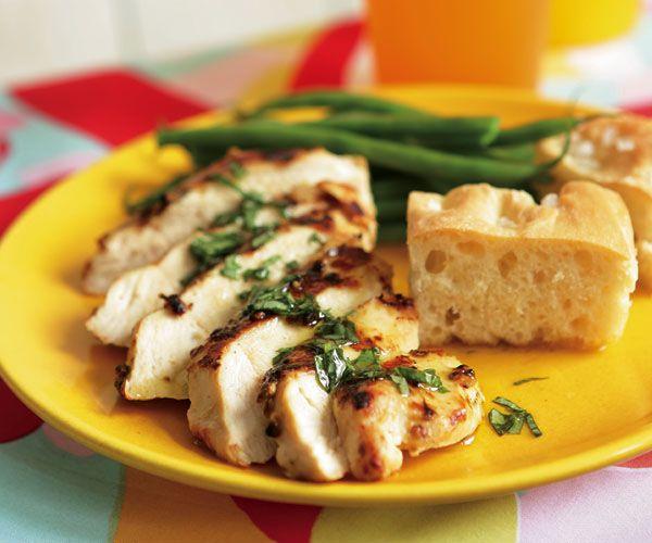 Mustard & Coriander Chicken Breasts with Lemon-Basil Vinaigrette   Re ...