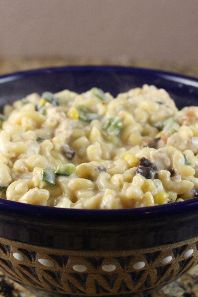 ... chile mac and cheese so much flavor with a kick of green chile mac and