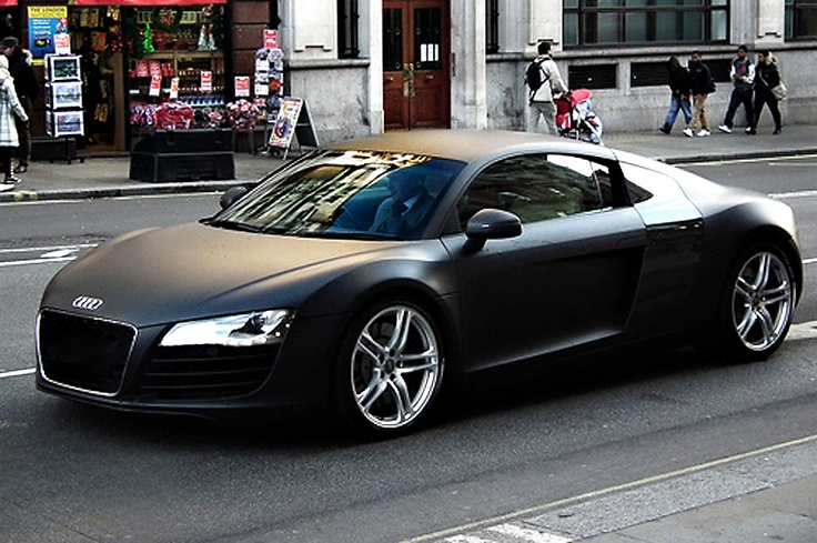 matte black audi r8 4 2 quattro dream cars pinterest. Black Bedroom Furniture Sets. Home Design Ideas