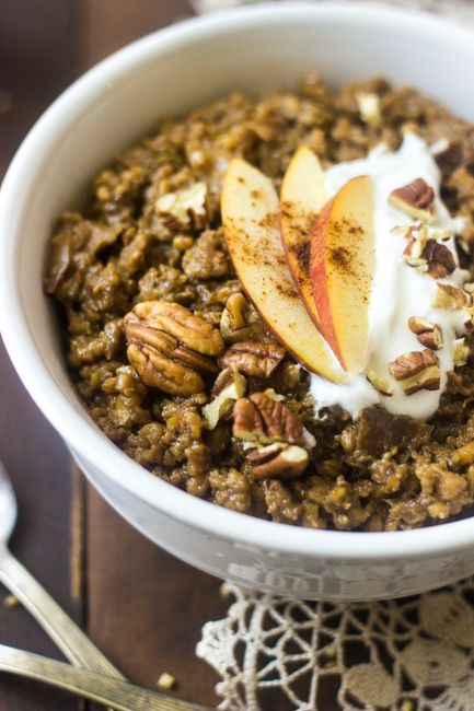 Slow Cooker Steel Cut Chai Apple Oatmeal | Good Life Eats