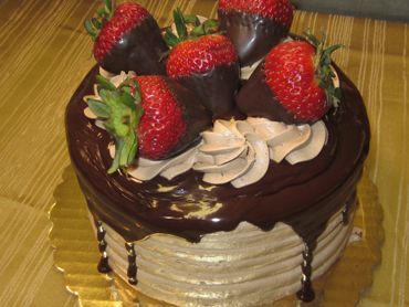 Chocolate Dipped Strawberry Cake | Real Professional Bakery Cakes | P ...