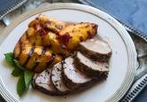 Grilled Pork Tenderloin with Orange Marmalade Glaze | Recipe