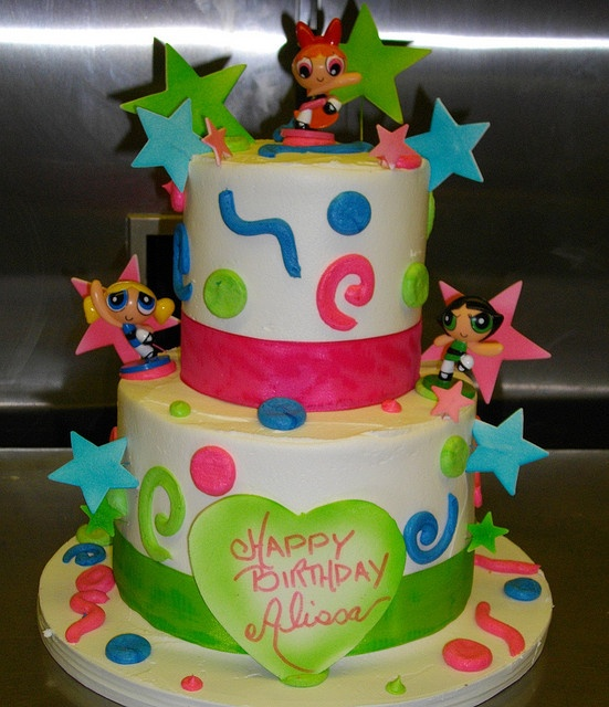 POWER PUFF GIRLS CAKE by CAKES CREATED WITH LOVE, via Flickr