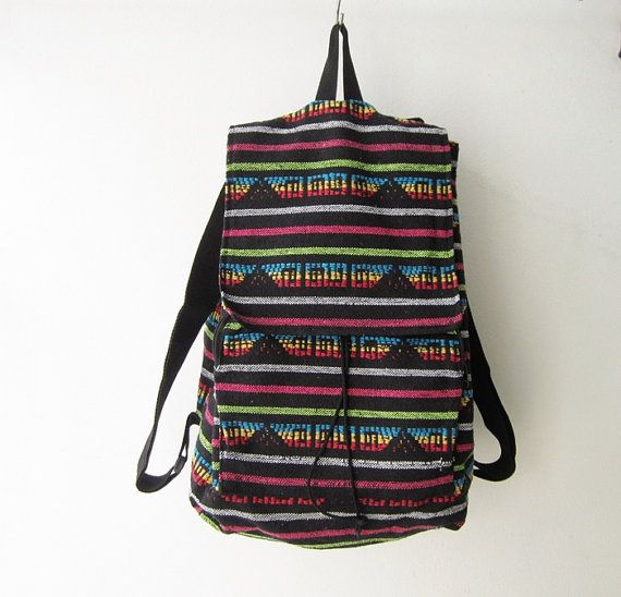 Hipster backpack tribal backpack woven boho by jewelry4fab on Etsy, $ ...