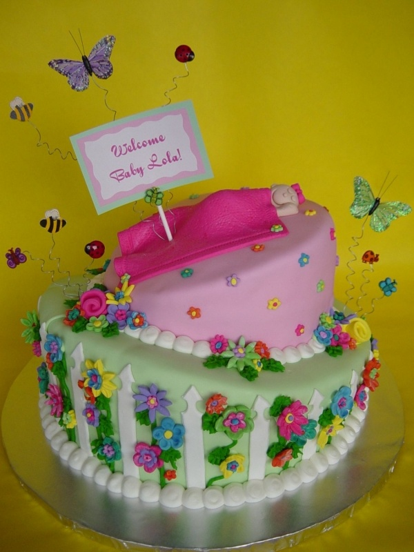 Whimsical Garden Themed Baby Shower Decorate A Cake