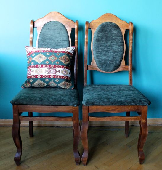 DIY Project Reupholstering Old Chairs DIY Pinterest
