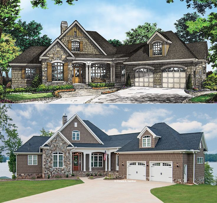 The Chatsworth Plan #1301-D - From rendering to reality!