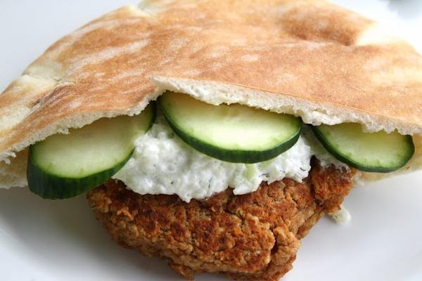 greek quinoa burger recipe thrive25   Food   Pinterest