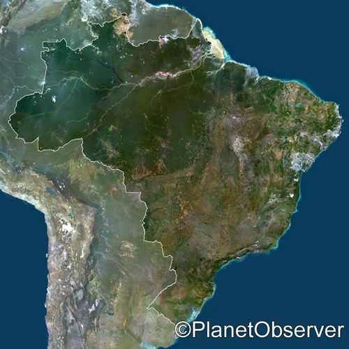 brazil geography Geography location: eastern south america, bordering the atlantic ocean map references: south america, standard time zones of the world area: total area 8,511,965 sq km.