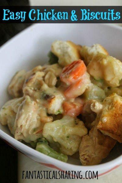 Easy Chicken & Biscuits | www.fantasticalsharing.com | #chicken # ...