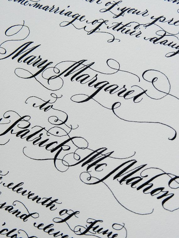 Wedding calligraphy beautiful words pretty letters