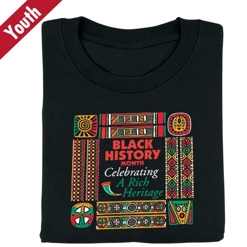 Black History Month Celebrating A Rich Heritage T-Shirt (From ...