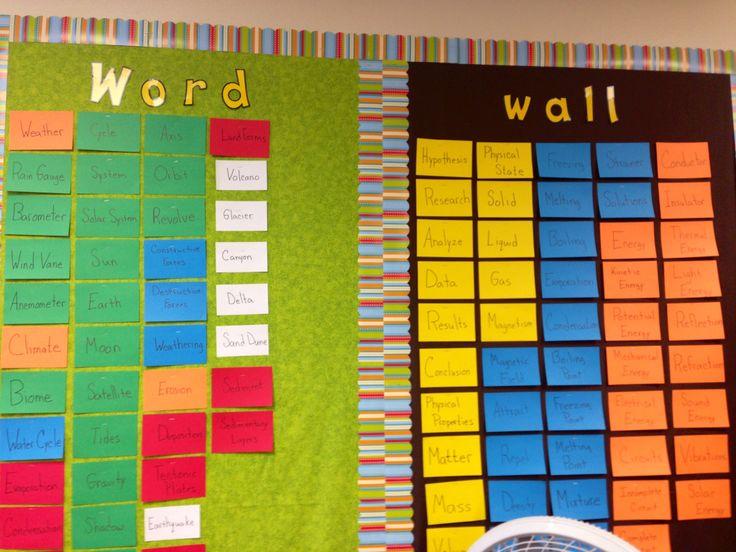 Science word wall | Chisholm Ridge Celebrations | Pinterest