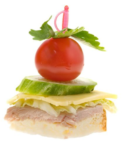 Quick and easy turkey canapes paradox catches sterling for Simple canape appetizer