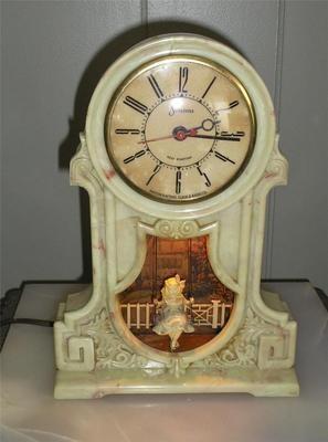 Clock swinging repair pendulum