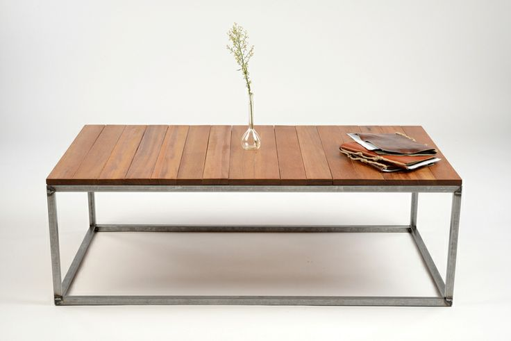 Unikat Design Couchtisch Massivholz Stahl