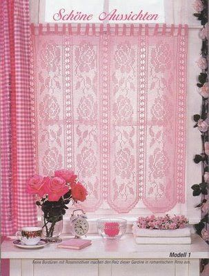 Filet häkeln Gardine - filet crochet curtain